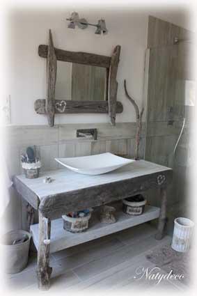 D co salle de bain bois flott - Meuble bois flotte ...