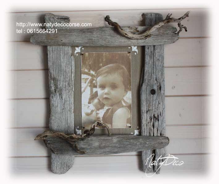 Miroir bois flott - Cadre en bois flotte decoration ...