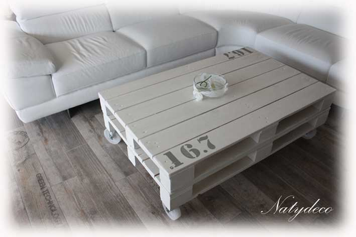 D co en bois flotte - Table de salon en palette ...