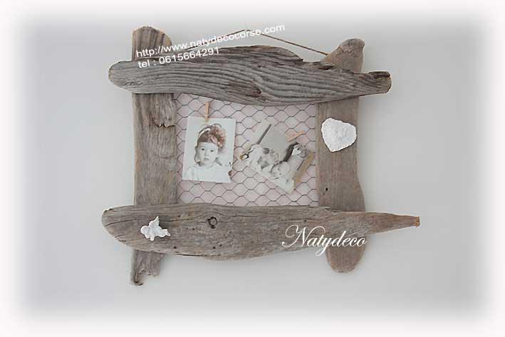 Ciel de lit bois flotte for Cadre de lit en bois flotte