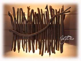 simple applique murale bois flott affordable suspension bois for fabriquer applique murale bois. Black Bedroom Furniture Sets. Home Design Ideas
