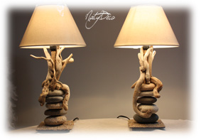 Lampe en bois flott - Lampe galet leroy merlin ...