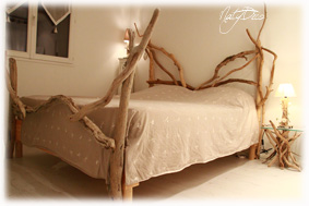D co en bois flotte - Tete de lit en bois flotte ...