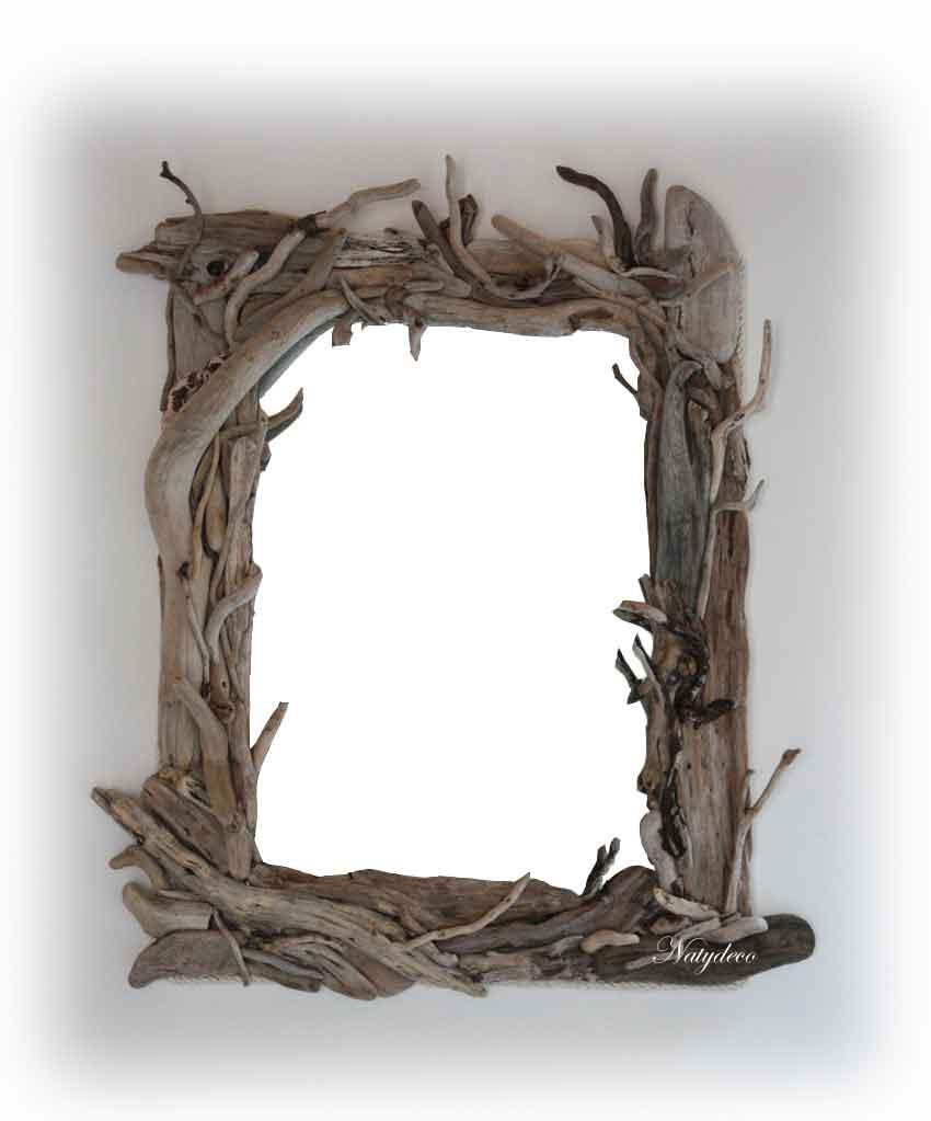 Miroir bois flott for Fabriquer objet en bois flotte